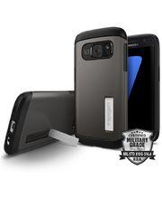 Spigen pouzdro Slim Armor pro Galaxy S7, kovově šedé