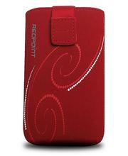 Fixed pouzdro Velvet s motivem Red Spirals, velikost 4XL, červená