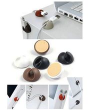 Samolepící klip pro vedení kabelů do vozu nebo na stůl, silikon, černá